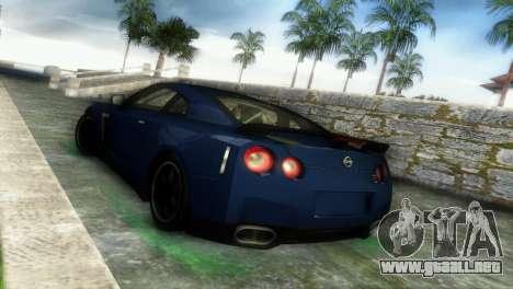 Nissan GT-R SpecV Black Revel para GTA Vice City visión correcta