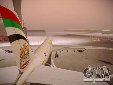 Airbus A340-600 Etihad Airways para las ruedas de GTA San Andreas