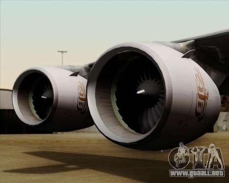 Airbus A380-841 Emirates para la vista superior GTA San Andreas