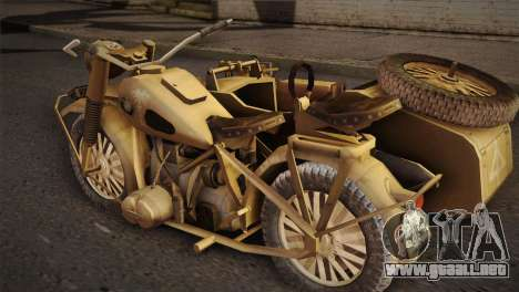 BMW R75 Desert from Forgotten Hope 2 para GTA San Andreas left