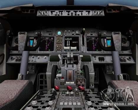 Boeing 737-86N Garuda Indonesia para la vista superior GTA San Andreas