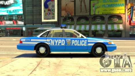 Ford Crown Victoria 1994 NYPD para GTA 4 left