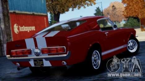 Shelby Cobra GT500 1967 para GTA 4 visión correcta