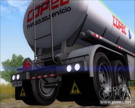 Remolque tanque Carro Copec para GTA San Andreas vista hacia atrás