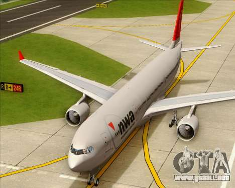 Airbus A330-300 Northwest Airlines para vista lateral GTA San Andreas