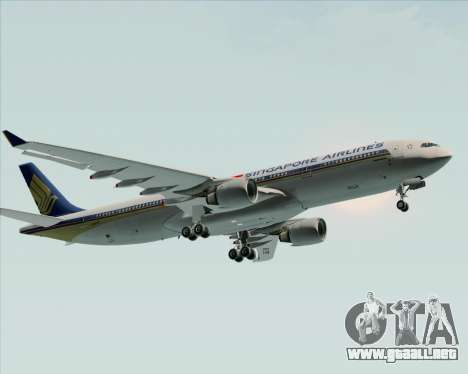 Airbus A330-300 Singapore Airlines para visión interna GTA San Andreas