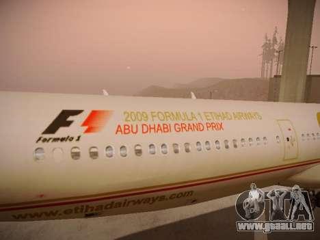 Airbus A340-600 Etihad Airways para el motor de GTA San Andreas