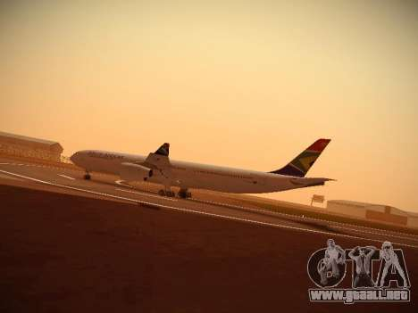 Airbus A340-300 South African Airways para GTA San Andreas left