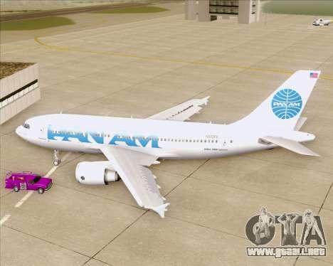 Airbus A310-324 Pan American World Airways para visión interna GTA San Andreas