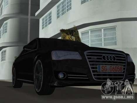 Audi A8 2010 W12 Rim6 para GTA Vice City left