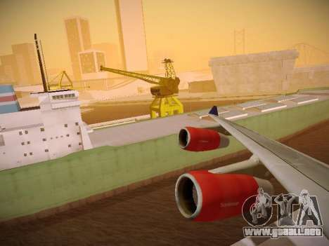 Airbus A340-300 Scandinavian Airlines para vista inferior GTA San Andreas