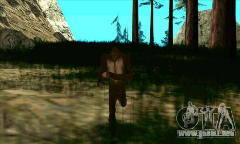 Sasquatch (Bigfoot) en el monte Chiliad para GTA San Andreas tercera pantalla