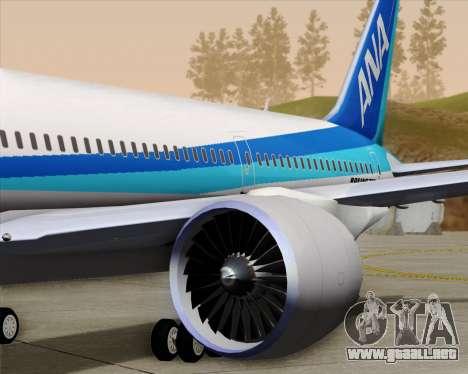 Boeing 787-9 All Nippon Airways para las ruedas de GTA San Andreas