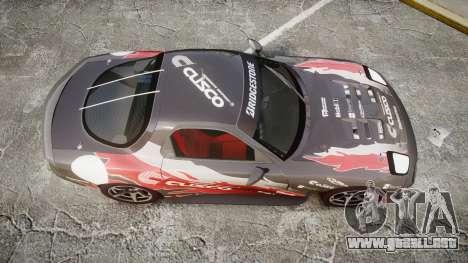 Mazda RX-7 Cusco para GTA 4 visión correcta