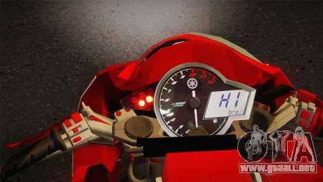 Yamaha New V-Ixion Lightning Concept Variasi para GTA San Andreas vista posterior izquierda