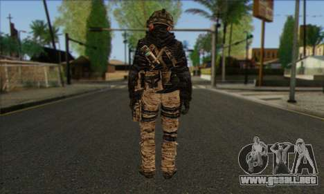 Task Force 141 (CoD: MW 2) Skin 14 para GTA San Andreas segunda pantalla