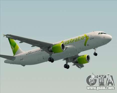 Airbus A320-200 Air Australia para GTA San Andreas left
