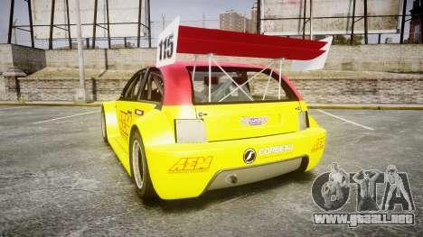 Zenden Cup AEM para GTA 4 Vista posterior izquierda