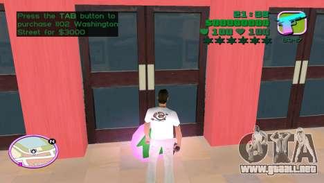 Green Font Color With Logo para GTA Vice City sucesivamente de pantalla