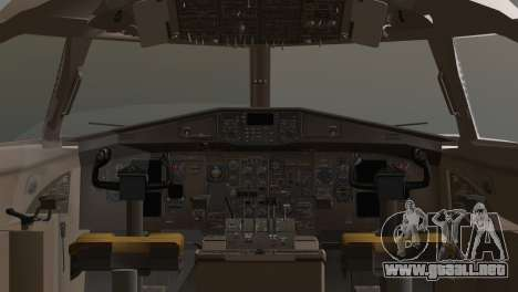 Indonesian Plane Wings Air para GTA San Andreas vista posterior izquierda