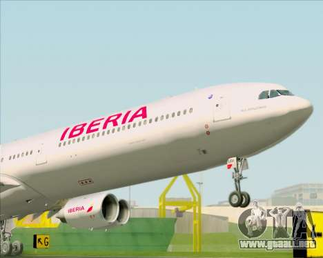 Airbus A340-642 Iberia Airlines para GTA San Andreas vista hacia atrás