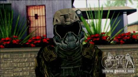 Soldados de equipo Fantasma 2 para GTA San Andreas tercera pantalla