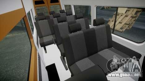 Mercedes-Benz Sprinter 313 cdi para GTA 4 vista interior