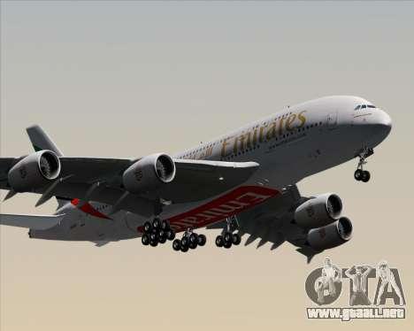 Airbus A380-841 Emirates para visión interna GTA San Andreas