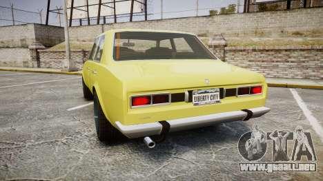 Vulcar Warrener para GTA 4 Vista posterior izquierda