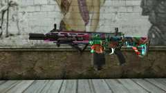 Graffiti Assault rifle v2 para GTA San Andreas