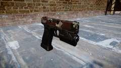 Pistola Glock 20 son inyectados de sangre.