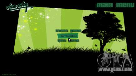 Green Font Color With Logo para GTA Vice City