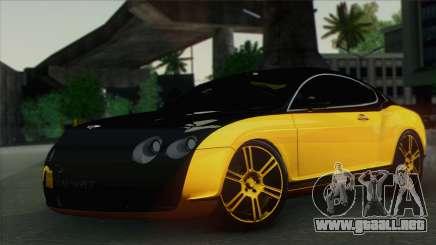Bentley Continental GT Mansory para GTA San Andreas