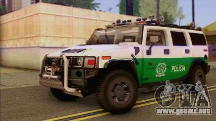 Hummer H2 Colombian Police para GTA San Andreas