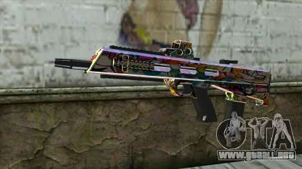 Graffiti Assault rifle para GTA San Andreas