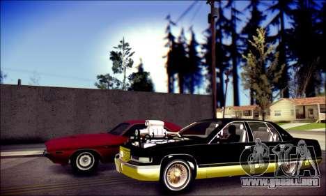 Cadillac Fleetwood 1993 Lowrider para GTA San Andreas vista posterior izquierda