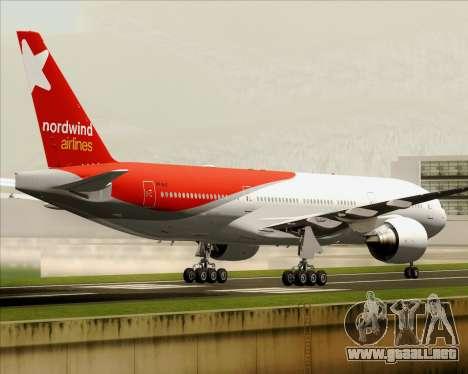 Boeing 777-21BER Nordwind Airlines para visión interna GTA San Andreas