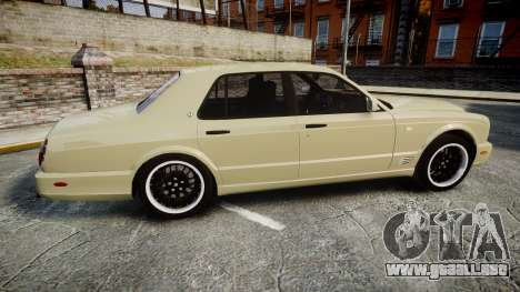 Bentley Arnage T 2005 Rims1 Black para GTA 4 left