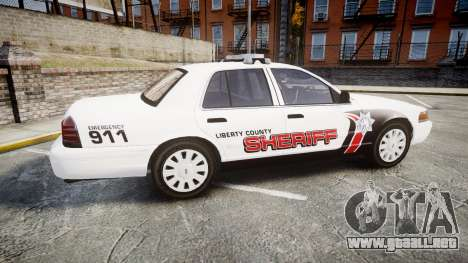 Ford Crown Victoria LC Sheriff [ELS] para GTA 4 left