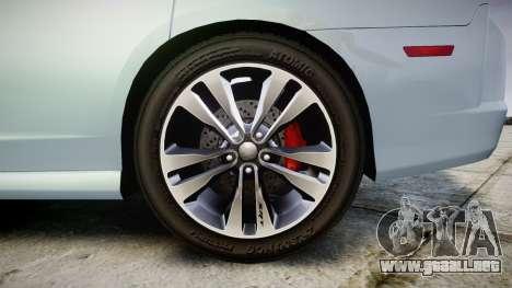 Dodge Charger SRT8 para GTA 4 vista hacia atrás