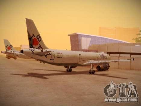 Airbus A321-232 jetBlue I love Blue York para la visión correcta GTA San Andreas