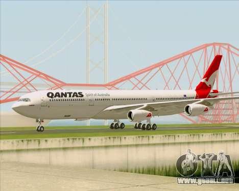 Airbus A340-300 Qantas para GTA San Andreas vista posterior izquierda