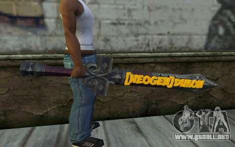 Sword from World of Warcraft para GTA San Andreas tercera pantalla