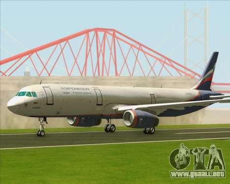 Airbus A321-200 Aeroflot - Russian Airlines para GTA San Andreas left