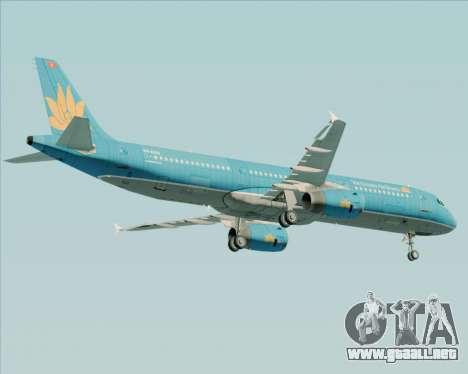 Airbus A321-200 Vietnam Airlines para visión interna GTA San Andreas