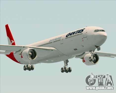 Airbus A330-300 Qantas (New Colors) para vista lateral GTA San Andreas