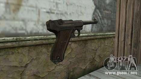 Luger P-08 para GTA San Andreas segunda pantalla