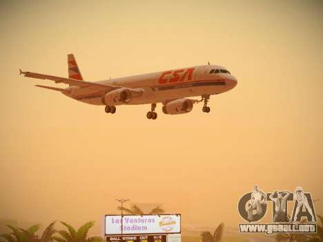 Airbus A321-232 Czech Airlines para vista lateral GTA San Andreas