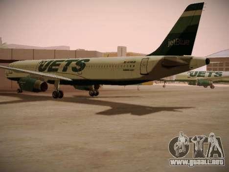 Airbus A321-232 jetBlue NYJets para la visión correcta GTA San Andreas
