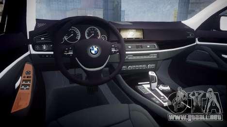 BMW 530d F11 Unmarked Police [ELS] para GTA 4 vista interior